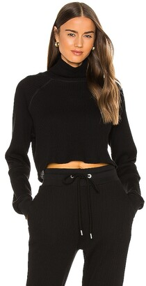The Range Stark Jumbo Waffle Knit Cropped Turtleneck