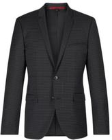 HUGO BOSS Adris Extra Slim Fit, Wool Sport Coat 44R Black