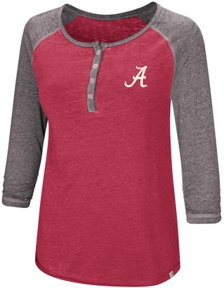 Colosseum Women's Crimson Alabama Crimson Tide 8 Pound 3/4-Sleeve Henley T-Shirt