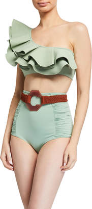 Johanna Ortiz Watercolor Bikini Top