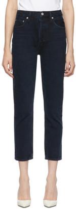 AGOLDE Indigo Riley Hi Rise Straight Crop Jeans