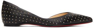 Christian Louboutin Black Studded Iriza Ballerina Flats