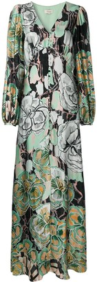 Temperley London Floral-Print Button-Up Dress
