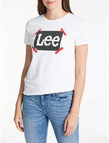 Lee DIY Logo T-Shirt, White