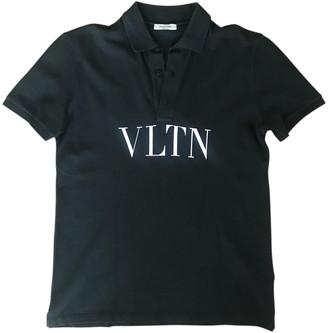 Valentino Black Cotton Polo shirts