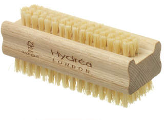 Hydrea London London Extra Tough Dual Sided Hand & Nail Brush With Cactus Bristles - Hard Strength