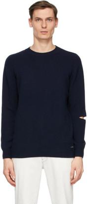 Stella McCartney Navy Shared Regenerated Cashmere Sweater