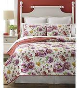 Martha Stewart Quilted Standard Pillow Sham Lenora Red Purple Tropical