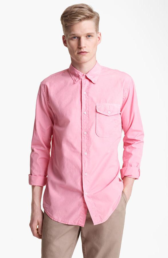 Save Khaki Poplin Shirt Rose Pink Small