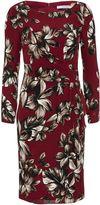 Gina Bacconi Etched floral crepe georgette dress