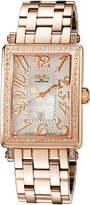 Gevril Swiss Quartz Mezzo Rose Tone Diamond Stainless Steel Bracelet Watch