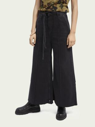 Scotch & Soda High-rise extra-wide leg jeans Black Butter | Women