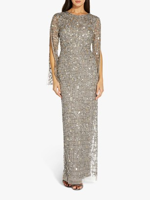 Adrianna Papell Beaded Maxi Dress, Mercury