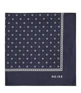 REISS Phillip - Silk Pocket Square in Navy