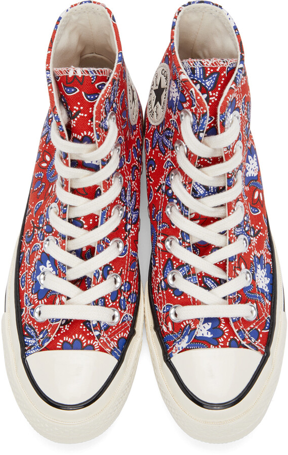 Thumbnail for your product : Converse Red Paisley Chuck 70 High Sneakers