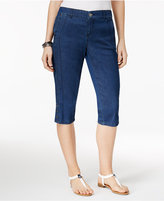 Style and Co Petite Chambray Carpi Pants, Only at Macy's
