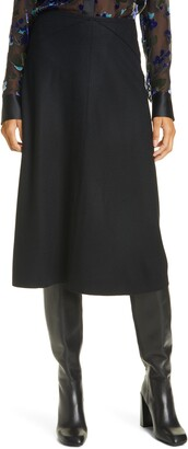 Rag & Bone Yan Wool A-Line Midi Skirt