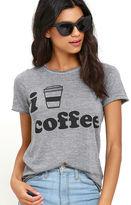 Chaser I Heart Coffee Heather Grey Tee