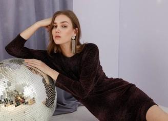 Sale - Sofie Schnoor Batwing Sleeve Dress Berry - L