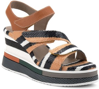 Spring Step L'Artiste By Leather Wedge Sandals- Akokomo
