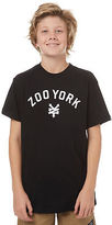 Zoo York New Boys Kids Boys Boom Tee Crew Neck Short Sleeve Cotton Black