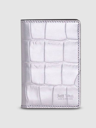 Jeff Wan Port Louis Card Wallet in Embossed Croc