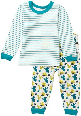 Coccoli Patterned Top & Pants Pajama Set (Baby)