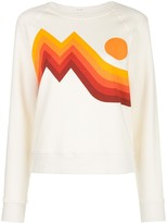 Mother Sunset-Print Cotton Sweatshirt