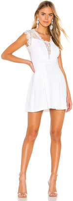 BCBGeneration Lace Trim Mini Dress
