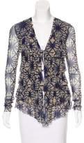 Jean Paul Gaultier Tie-Dye Ruffle Cardigan