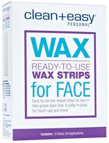 Clean + Easy Facial Wax Strips