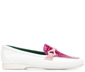 Fratelli Rossetti Croco-Effect Loafers