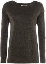 Michael Kors Lurex button sweater