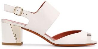 Santoni Block-Heel Sandals