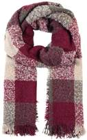 Ichi BEA CHECK Scarf windsor wine