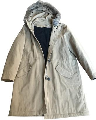 Masscob Beige Cotton Coat for Women