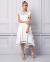 Le Château Lace & Satin Illusion Dress