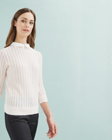 Ted Baker Scallop Collar Sweater Baby Pink
