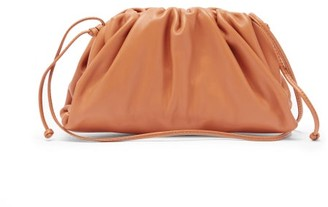 Bottega Veneta The Pouch Small Leather Clutch Bag - Tan