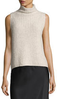 Vince Sleeveless Turtleneck Pullover Sweater