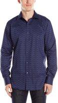 Bugatchi Men's Chevron Stripe Button Down Shirt
