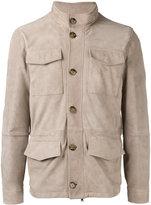 Eleventy classic field jacket - men - Cotton/Suede - 48