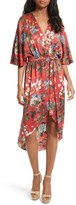 Alice + Olivia Women's Clarine Floral Silk Wrap Dress