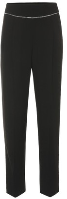 MSGM High-rise embellished straight pants