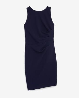 Express Pleated Side Sleeveless Sheath Dress