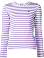 Comme des Garcons mini heart striped T-shirt - women - Cotton - XS