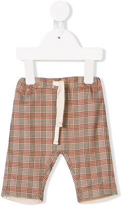 Knot Landscape Check Trousers