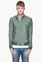 Band Of Outsiders Moss green Paper Tech Harrington jacket