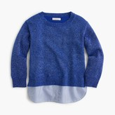J.Crew Girls' sparkly popover sweater with shirttail