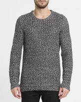 Revolution Grey Mix 6439 Wool Blend Knitted Round-Neck Sweater
